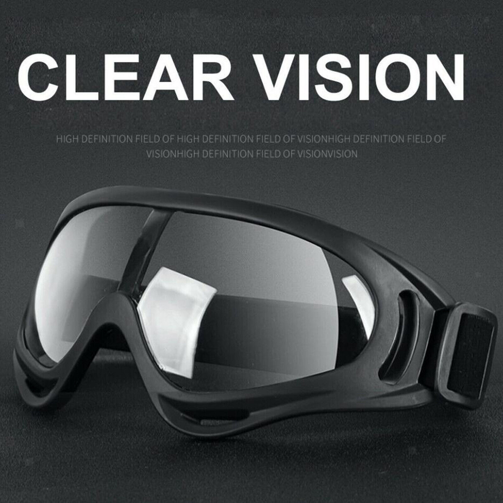 Safety Goggles Anti-Fog Dust Spit Glasses Eye UV Protection For Lab Work Riding
