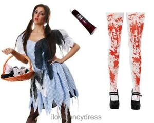 Image is loading ZOMBIE-DOROTHY-COSTUME-ADULT -HALLOWEEN-DEAD-FAIRYTALE-FANCY-  sc 1 st  eBay & ZOMBIE DOROTHY COSTUME ADULT HALLOWEEN DEAD FAIRYTALE FANCY DRESS ...