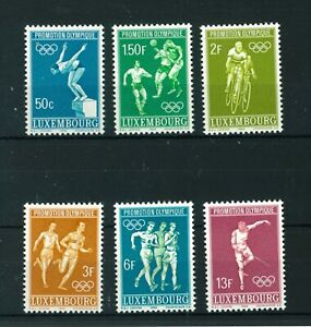 Luxembourg-1968-Olympic-Games-full-set-of-stamps-Mint-Sg-815-820
