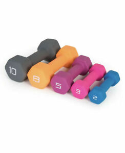 CAP Neoprene Dumbbell 3lb Single Pink Hex Hand Weight Workout 3 Pound Dumbell
