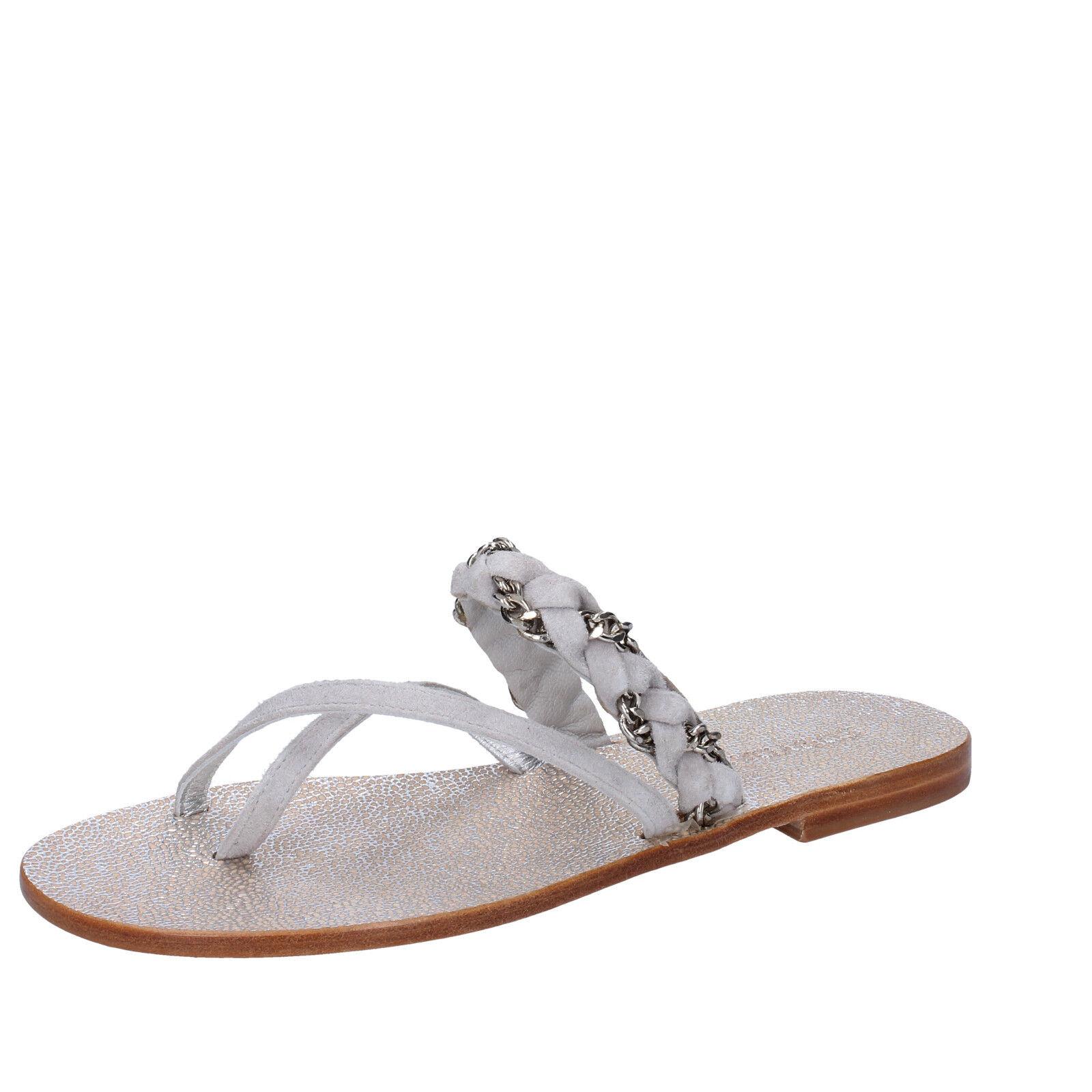 Scarpe donna EDDY DANIELE 37 EU sandali grigio camoscio AW309