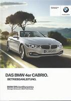 BMW 4er CABRIO F33 Betriebsanleitung 2015 Bedienungsanleitung Bordbuch  BA