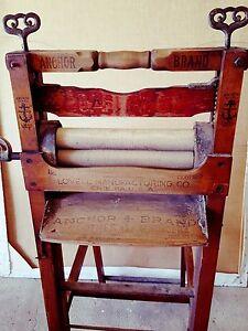 Anchor Brand Antique Folding Bench Wringer Ebay