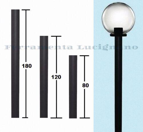 PALO PALI PVC ø60mm PER LAMPIONE LAMPIONI SFERE GLOBO ILLUMINAZIONE GIARDINO