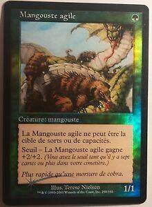 Mangouste-agile-PREMIUM-FOIL-VF-French-Nimble-Mongoose-Mtg-magic