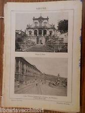 antica stampa da incorniciare MESSINA MONTE DI PIETA CORSO VITTORIO EMANUELE