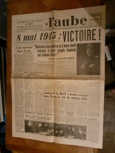 La-Une-Du-Journal-L-039-Aube-9-mai-1945-victoire-alliee-Europe