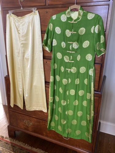 Luxurious Phuong Giang Vintage Silk? Asian Green/G