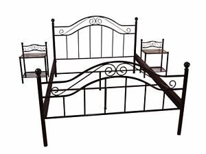 metallbett schwarz 140x200 cm bett romantisch ehebett doppelbett antik g nstig ebay. Black Bedroom Furniture Sets. Home Design Ideas