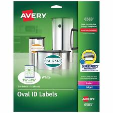 Avery White Oval Labels White Permanent Pack Of 270