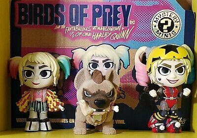 Funko Mystery Minis Lot Birds Of Prey Harley Quinn And Hyena Flocked Ebay