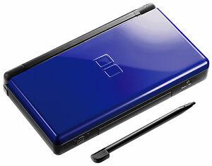 nintendo ds lite cobalt and black handheld system 45496718350 ebay. Black Bedroom Furniture Sets. Home Design Ideas