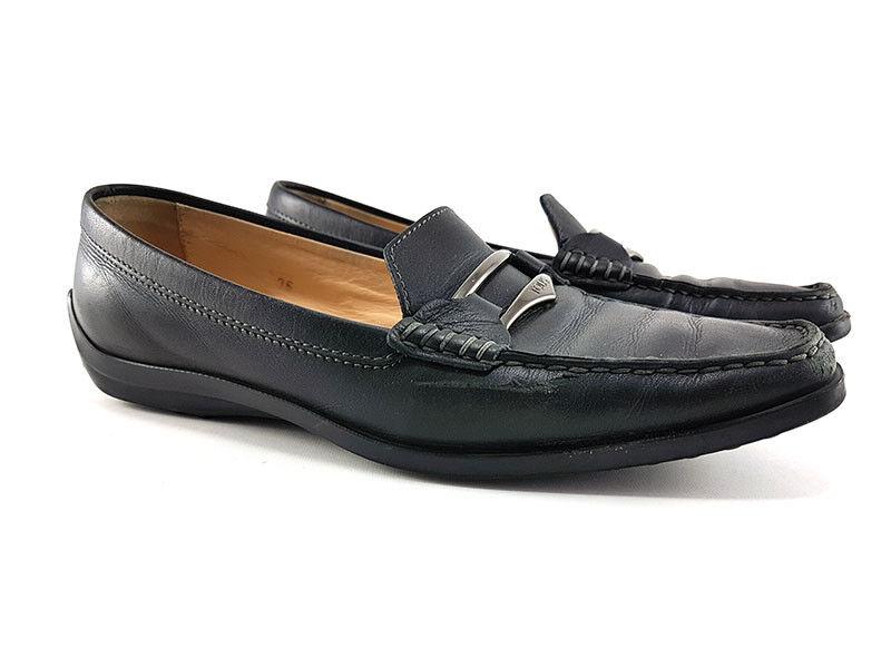 TOD's Schwarz Leder Mokassins EU Loafer Damen Schuhgröße US 6, EU Mokassins 36 7dac0c