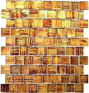 10 Mosaikmatten Mosaikfliese Transluzent Glasmosaik Crystal Struktur gr/ün klar gefrostet MOS68-CF43/_f