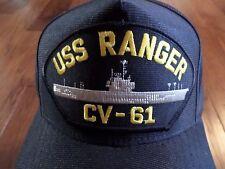 USS RANGER CV-61 NAVY SHIP HAT U.S MILITARY OFFICIAL BALL CAP U.S.A MADE