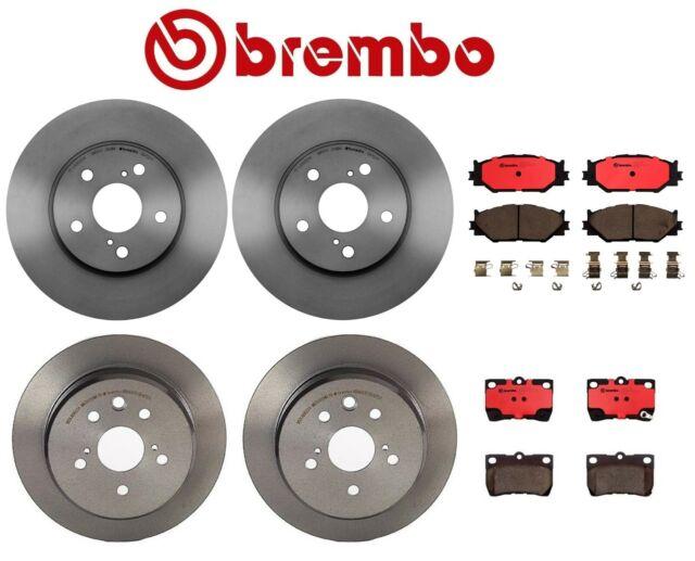 Set of Front /& Rear Ceramic Disc Brake Pads Kit Brembo For Lexus IS250 2006-2009