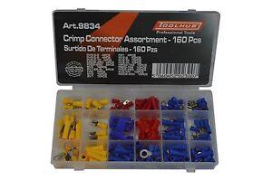 Concentrador-de-herramienta-Alambre-con-aislamiento-Surtidos-electrico-9834-160-terminales-Crimp