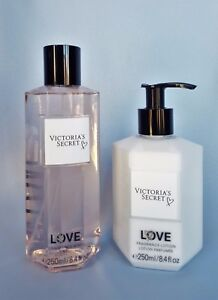 VICTORIA-039-S-SECRET-LOVE-FRAGRANCE-BODY-LOTION-amp-BODY-MIST-SPRAY-8-4-OZ-EACH-NEW
