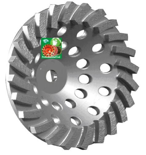 "7/""X24SEG SPIRL TURBO 80//100GRIT DIAMOND CUP WHEEL 4 CONCRETE BLOCK GRINDING-BEST"