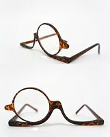 Makeup Reading Glasses With Magnifying Flip-up Lens Tortoise Shell Power +3.00