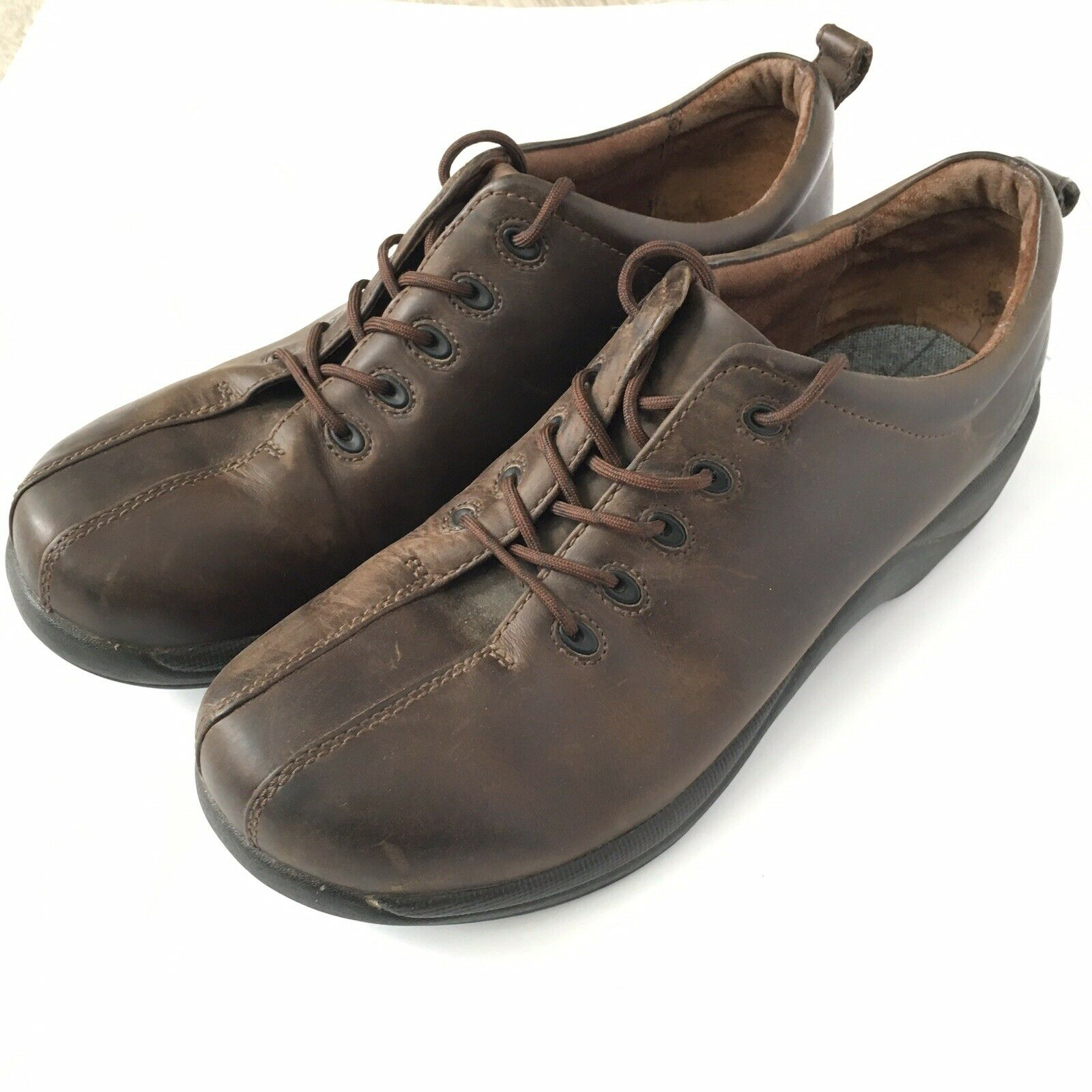 Dansko Size 47 Men's 13-14 Brown Carson Oiled Leather Lace up Oxford shoes