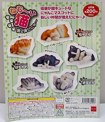 Japan Neko Cats Sleeping Figure Part II 6pcs - Beam Gashapon , h#4