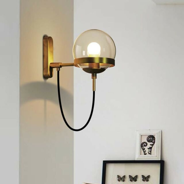 Antique Br Wall Sconce Light Hallway