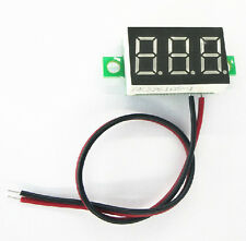 Blue LED 0.36 Inches Panel Meter Lithium Battery Digital Voltmeter DC 3.0V - 30V
