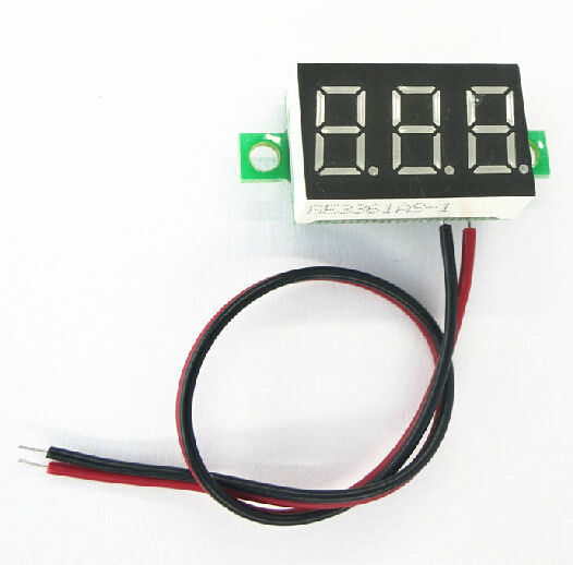 Blue LED Panel Meter Mini Lithium Battery Digital Voltmeter DC 3.0V - 30V