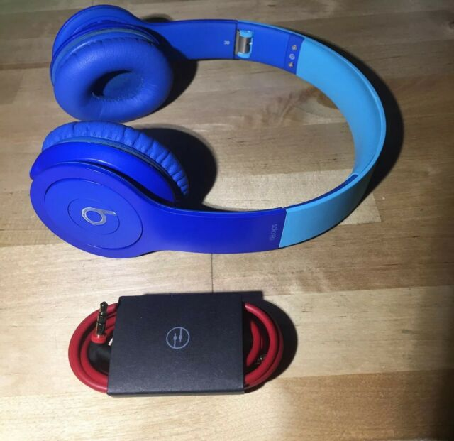 Beats by Dr. Dre Solo HD Drenched Headband Headphones - Blue & Light Blue