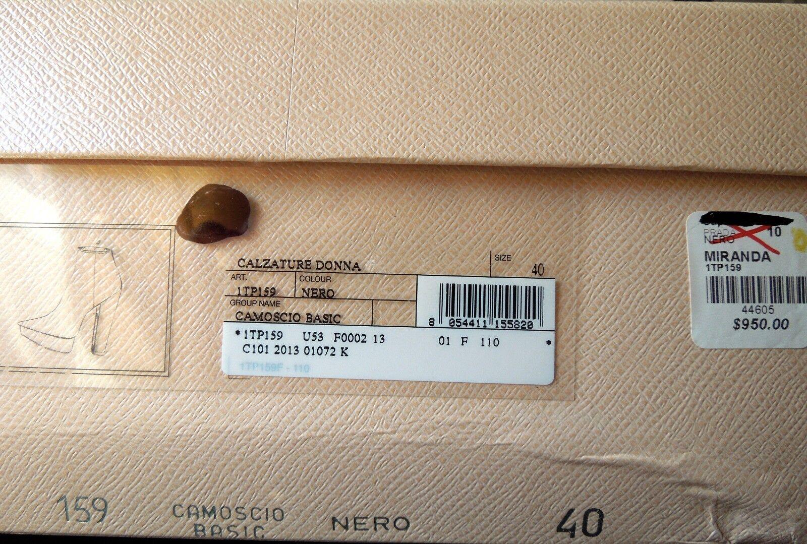 Nuevo Prada Gamuza Negra Plataforma zapatos Tacón Alto Botas al Tobillo zapatos Plataforma Sexy cd02b8
