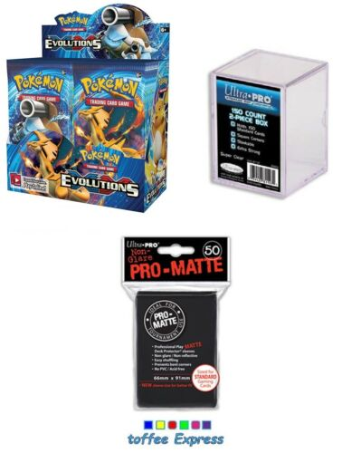 POKEMON Cards XY Evolutions 360 Cards Booster box SEALED, ULTRA Pro Box Sleeves