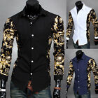 Hot Men Fashion Luxury Casual Slim Fit Stylish Long Sleeve Dress Shirts Tops