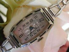 Ladies Art Deco Black Enamel Vanburen Watch~ Runs