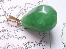Smaragd Anhänger Gold 585, Kettenanhänger Gold 585 mit  Smaragd Tropfen 18 mm
