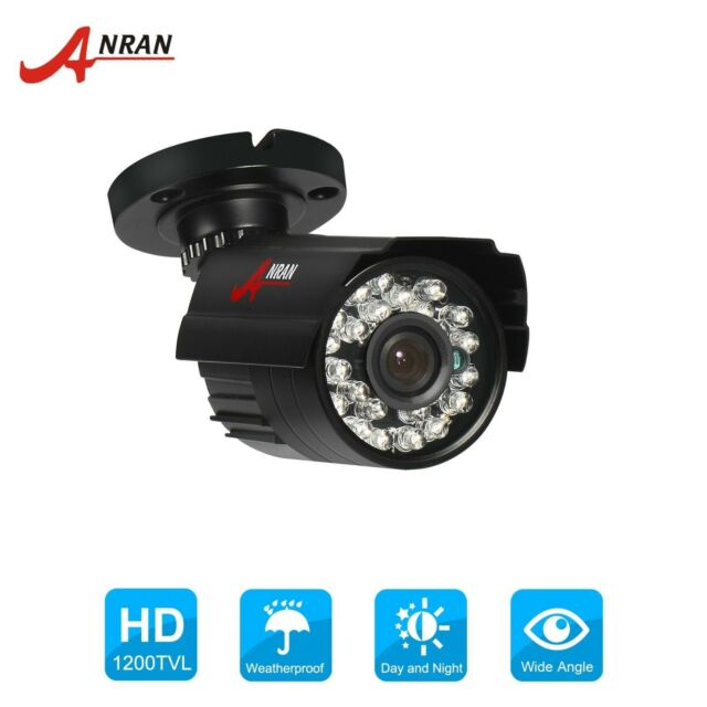 One Majsterkowanie Waterproof 1200 TVL Outdoor Security Camera 100 FT Night Vision Kit 3.6mm