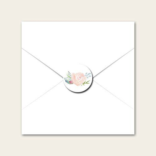 Wedding Envelope Seals Watercolour Roses