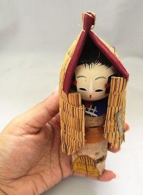 Snow Girl Japanese Wooden Kokeshi Doll