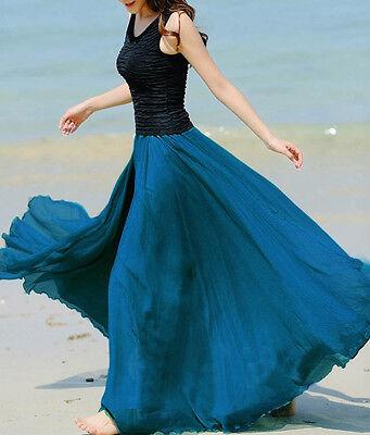 Gonna Lunga Vestito Donna - Woman Maxi Skirt Dress - Chiffon A130002