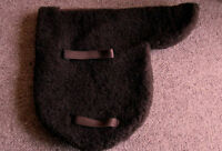 Pony Size Brown Faux Sheepskin Fur / Fleece Straight Cut Unlined Show Numnah