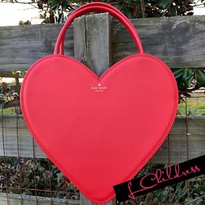 f054c5e29a Kate Spade Valentine's Day Heart Tote Shoulder Bag Purse Red Wedding ...