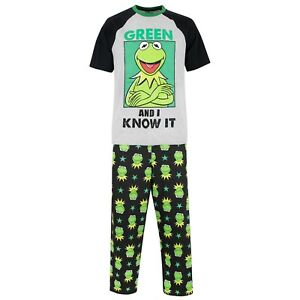 5d89066f1 Kermit The Frog Pyjamas | Mens Disney PJs | Adults Muppets Pyjama ...