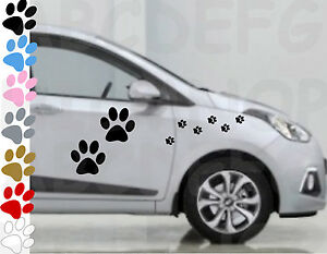 Adesivi Zampe Cane In 7 Colori Sticker Auto Impermeabili Vinile Impronte Paw Dog Couleurs Fantaisie