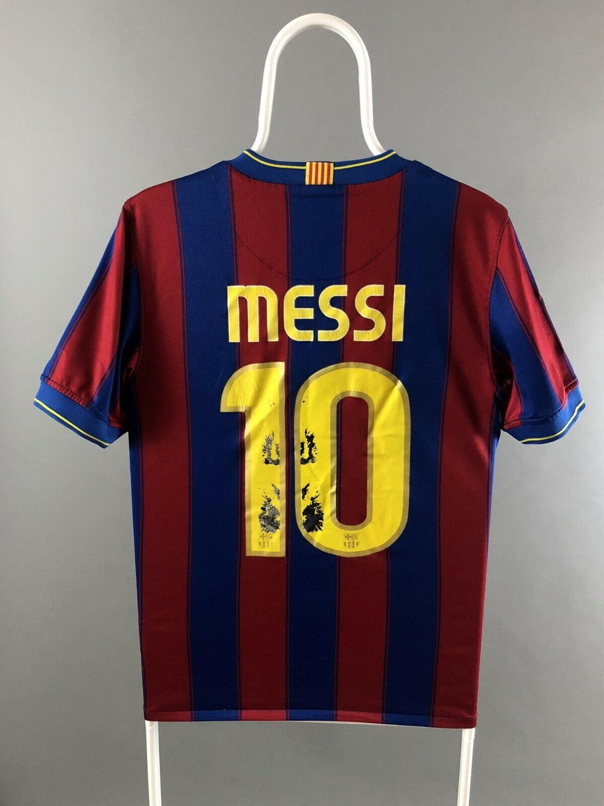 best website 1b766 ba756 FC Barcelona 2009 2010 Nike #10 Messi Soccer Football Jersey Shirt Home  Size S