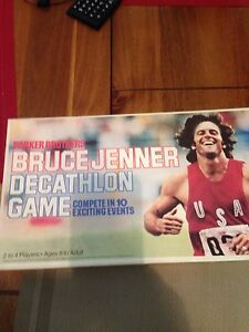 1979 BRUCE JENNER~OLYMPIC DECATHLON Board GAME ~Parker Bros. UN~Punched
