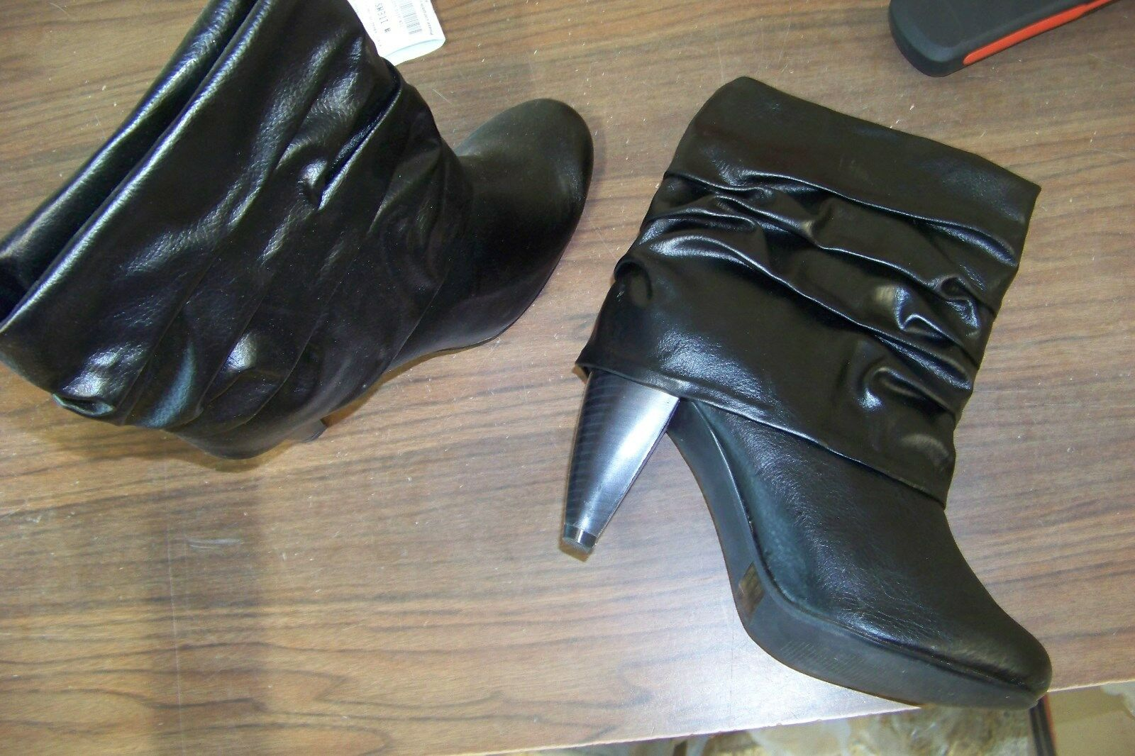 womens icora black size large cuffed ankle boots size black 7 ce7f3f
