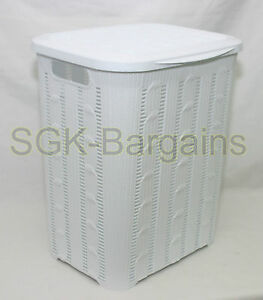 45L BRAIDED Rattan Plastic Laundry Bin Washing Multi Storage Basket WHITE - <span itemprop='availableAtOrFrom'>bolton, Lancashire, United Kingdom</span> - If you are not happy with your purchase from us; there is nothing to worry about. Simply send the item back to us within 7 working days and we will dispatch you a new one or we - bolton, Lancashire, United Kingdom