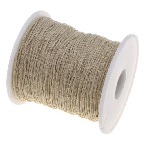 ❤ 1mm SHAMBALLA Nylon Cord CHOOSE COLOUR  Beading String Thread 25m or 75m ❤