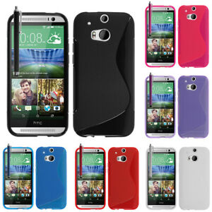 Protective-Case-for-HTC-One-M8-One-M8s-Dual-Sim-TPU-Silicone-Flip-Case-Cover