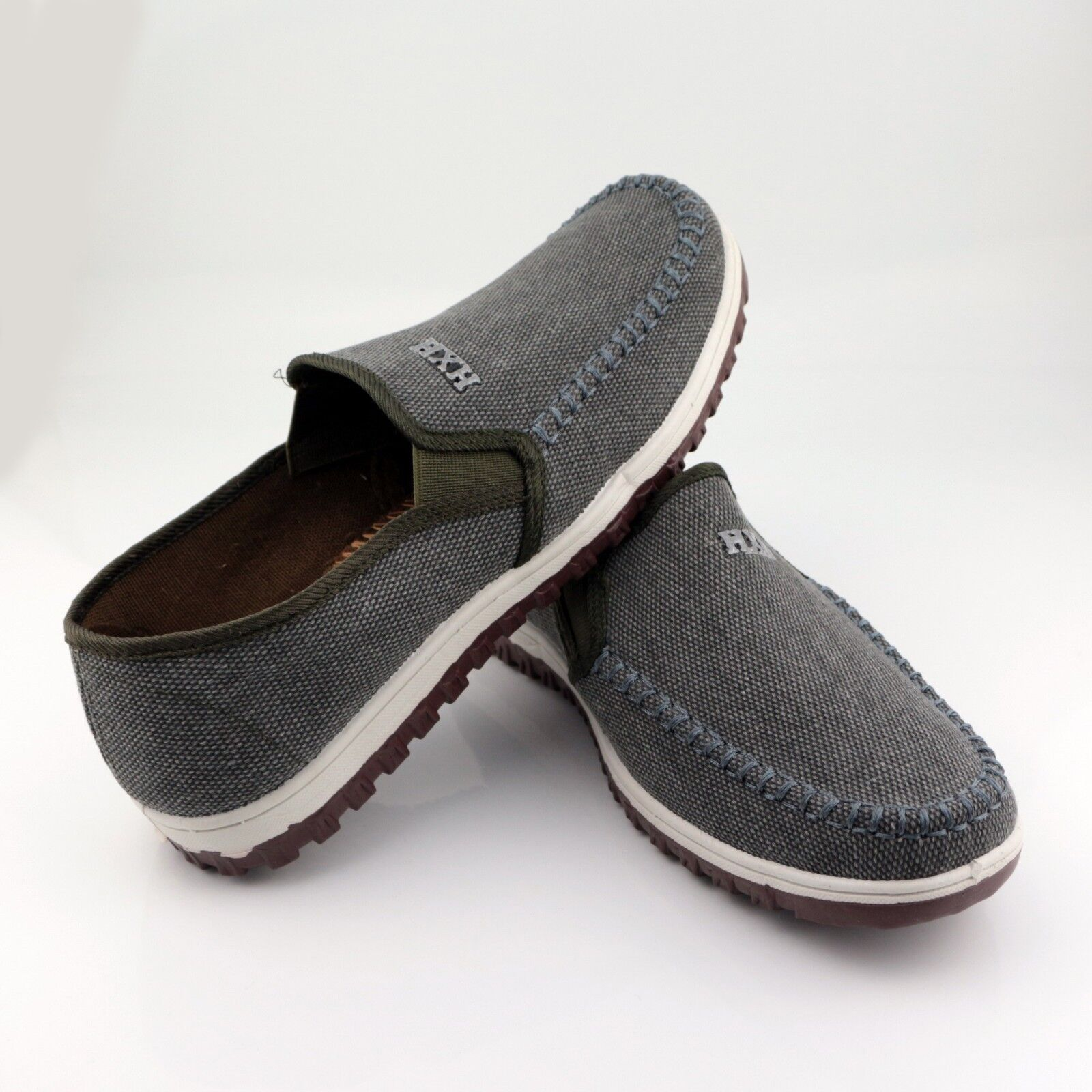 Men's Dark Gray Fashion Breathable Sports Sneakers Casual Shoes HXH-5